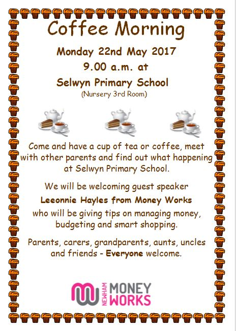 Coffee Morning For Parents And Carers Poster With